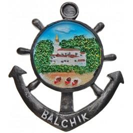 Сувенирна фигурка котва с магнит - двореца в Балчик