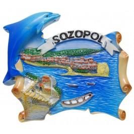 Декоративна магнитна фигурка с делфин - Созопол