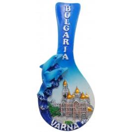 Декоративна гипсова фигурка лъжичка с магнит - Варненската катедрала