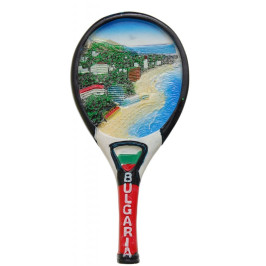 Сувенирна магнитна фигурка тенис ракета - крайбрежие