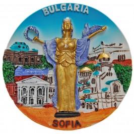 Декоративна сувенирна фигурка с магнит - забележителности в София