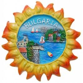 Сувенирна фигурка с магнит - слънце с изглед на морски залив