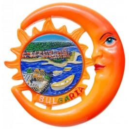 Сувенирна фигурка с магнит - слънце и месечина - морски залив