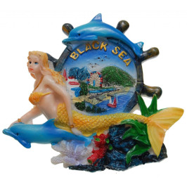 Сувенирна фигурка с магнит - рул с русалка и делфин
