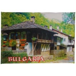 Неогъваща се магнитна пластинка - стара българска къща