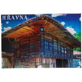 Сувенирна магнитна фигурка -българска старинна къща в Жеравна