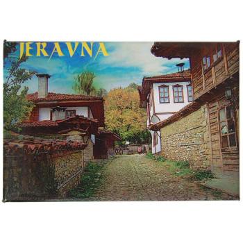 Сувенирна магнитна фигурка - български старинни къщи в Жеравна