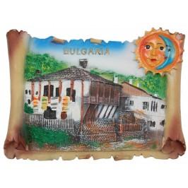 Декоративна релефна фигурка - старинна къща