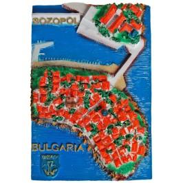 Декоративен 3D макет на крайбрежието в Созопол, поглед от високо