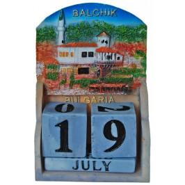 Сувенирен декоративен календар с релеф на двореца в Балчик