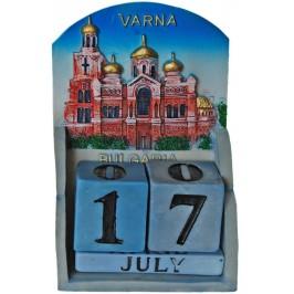 Сувенирен декоративен календар с релеф на Варненската катедрала