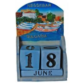 Сувенирен декоративен календар с релеф на Несебър