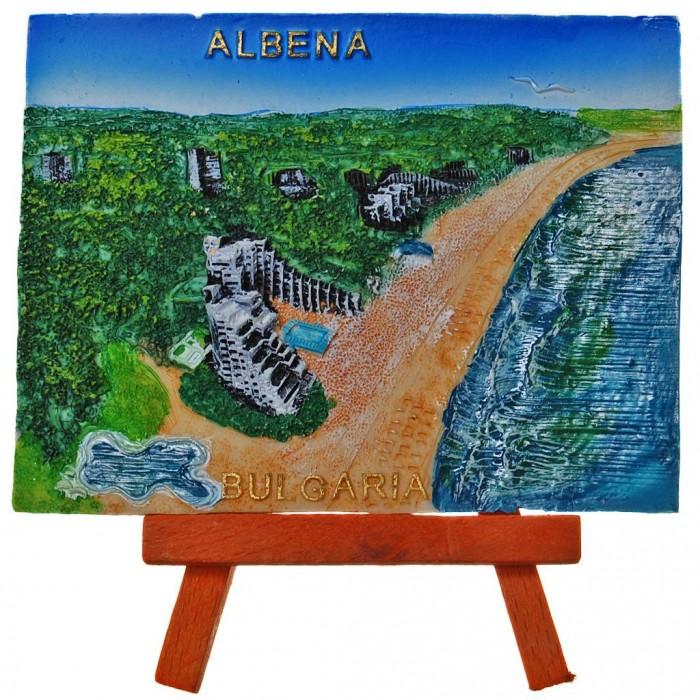 Декоративна релефна фигурка - крайбрежната ивица на Албена