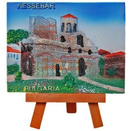 Декоративна релефна фигурка - църква в Несебър