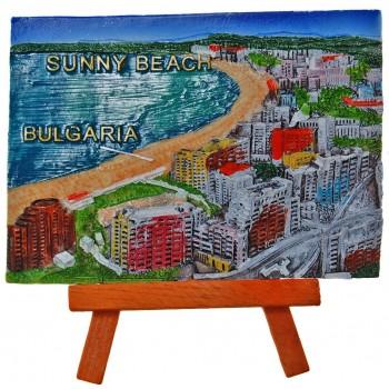 Декоративна релефна фигурка - крайбрежната ивица на Слънчев бряг