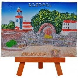 Декоративна релефна фигурка - забележителности на Созопол