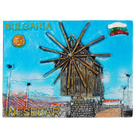 Декоративна фигурка с магнит - Вятърната мелница в Несебър