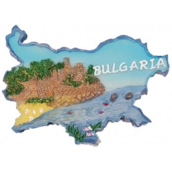 Сувенирена релефна фигурка с магнит - контури на България