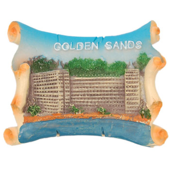 Декоративна гипсова фигурка с магнит - Златни пясъци
