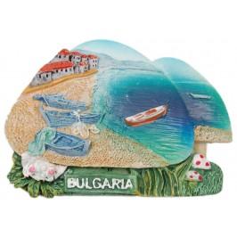 Декоративна релефна фигурка с магнит - две гъбки с надпис България