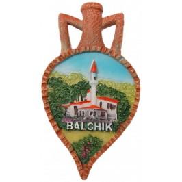 Декоративна релефна фигурка с магнит - делва - двореца в Балчик