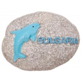 Сувенирна магнитна фигурка - имитация на камък с морски мотиви и надпис България