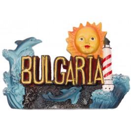 Сувенирна магнита фигурка - надпис България и морски мотиви