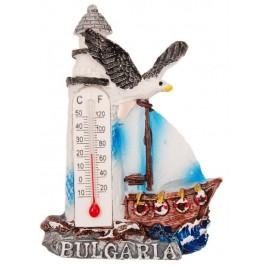Декоративна гипсова фигурка с магнит и термометър