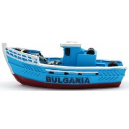 Декоративна релефна фигурка - рибарска лодка с мрежа