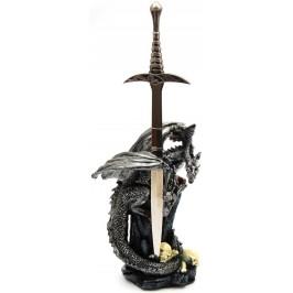 Сувенирен нож на стойка - триглав дракон