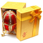 Метална кутийка за бижута - яйце на Фаберже