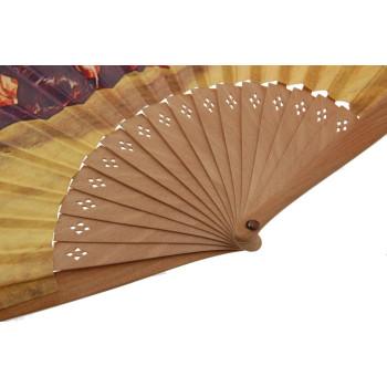 Сувенирно ветрило от дърво и текстил с цветен принт - 22