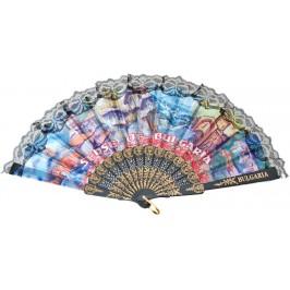 Сувенирно ветрило пластмаса и текстил с дантела - забележителности от България