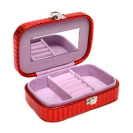 Стилна кутия за бижута изработена от еко кожа