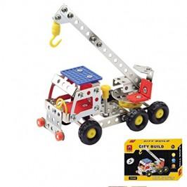 Метален конструктор - строителни камиончета