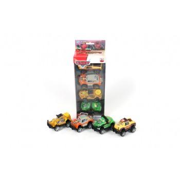 Комплект 4бр. малки джипчета - Cars