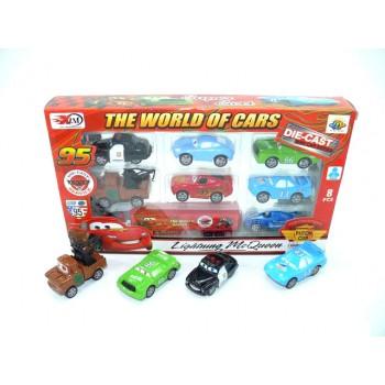 Комплект 8бр. колички - Cars