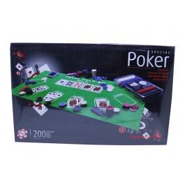 Покер комплект с 200 чипа и покривка за Texas Hold 'em