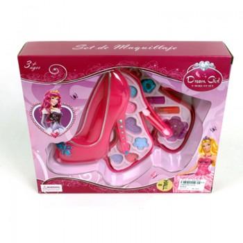 Детски комплект за гримиране във формата на обувка