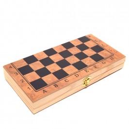 Комплект шах и табла в красива дървена кутия с размери - 29х29 см
