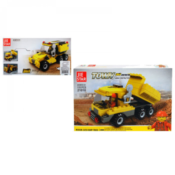 """Конструктор 3 в 1 """"Строителни машини"""" - подарък за деца"""