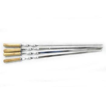 Метални шишове с дървена дръжка