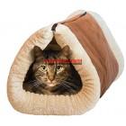 Котешка постелка и къщичка 2 в 1