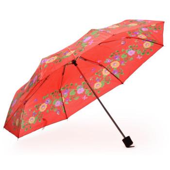 Сгъваем чадър с флорални мотиви