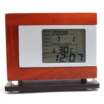 Луксозна поставка за химикали - дърво, с вграден многофункционален електронен часовник