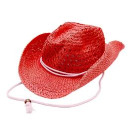 Красива дамска каубойска шапка с периферия извита нагоре