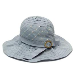 Красива платнена шапка с голяма периферия