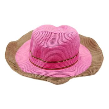 Лятна дамска шапка с декоративна лента