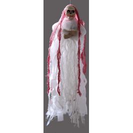 Музикална декоративна фигурка за окачване - скелет със светещи очи