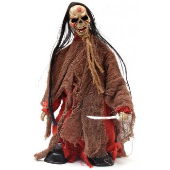Декоративна фигурка - подвижен скелет с меч